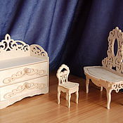 Куклы и игрушки handmade. Livemaster - original item doll furniture. set. Handmade.