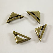Материалы для творчества handmade. Livemaster - original item Angles, metal, color antique bronze 4-piece. Handmade.
