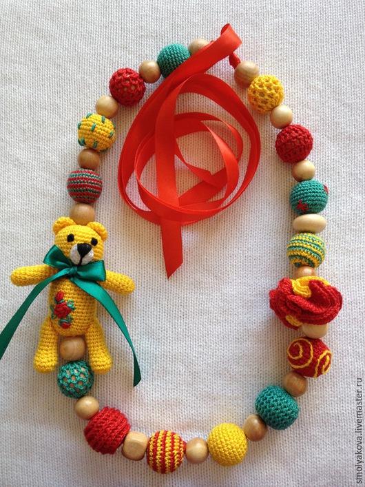 """Слингобусы ручной работы. Ярмарка Мастеров - ручная работа. Купить Слингобусы с игрушкой """"Солнечный мишка"""". Handmade. Разноцветный, можжевельник"""
