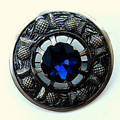 Винтаж handmade. Livemaster - original item 7.5 cm! Brooch charm with the Thistle in Celtic style. Handmade.