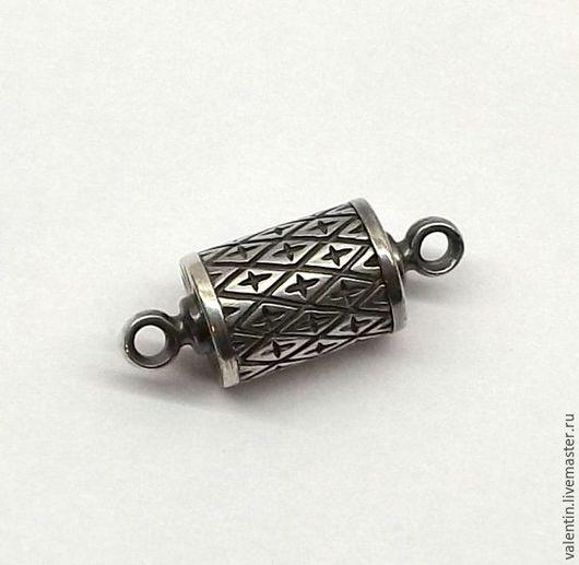 Для украшений ручной работы. Ярмарка Мастеров - ручная работа. Купить Магнитный замок, серебро 925. Handmade. Серебряный