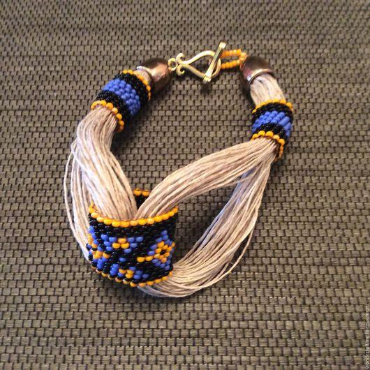 """Браслеты ручной работы. Ярмарка Мастеров - ручная работа. Купить браслет """"Этника"""". Handmade. Браслет, подарок для женщины, хлопковая нить"""