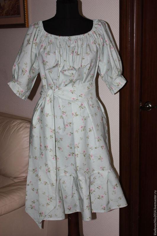 """Платья ручной работы. Ярмарка Мастеров - ручная работа. Купить Маленькое платье """"Весенний цветок"""". Handmade. Мятный, платье в подарок"""