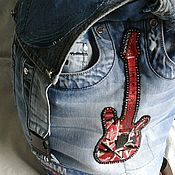 Backpacks handmade. Livemaster - original item Denim backpack. Handmade.