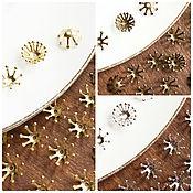 Материалы для творчества ручной работы. Ярмарка Мастеров - ручная работа Шапочка для бусин, 10 мм, шапочка бронза, золото, серебро, корона. Handmade.