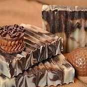 """Косметика ручной работы. Ярмарка Мастеров - ручная работа """"Шоколадное"""" натуральное мыло ручной работы. Handmade."""
