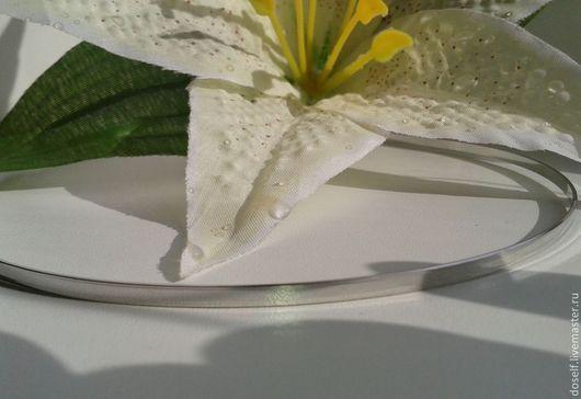 Для украшений ручной работы. Ярмарка Мастеров - ручная работа. Купить Основа для ободка шир.3мм цвет серебро. Handmade.