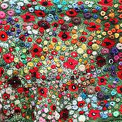 """Аксессуары ручной работы. Ярмарка Мастеров - ручная работа Палантин """"Маковое поле"""" по мотивам картин К. Моне. Handmade."""