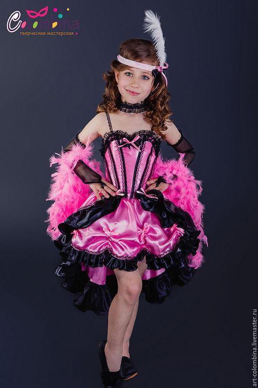 Детские карнавальные костюмы ручной работы. Ярмарка Мастеров - ручная работа. Купить Костюм кабаре. Handmade. Розовый