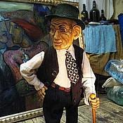 Куклы и пупсы ручной работы. Ярмарка Мастеров - ручная работа Марионетка старика. Handmade.