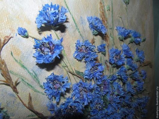 Картины цветов ручной работы. Ярмарка Мастеров - ручная работа. Купить Запах лета. Handmade. Васильки, полевые цветы