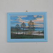 Картины ручной работы. Ярмарка Мастеров - ручная работа Вечер. Handmade.