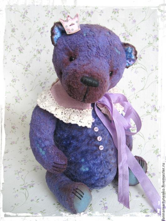 Мишки Тедди ручной работы. Ярмарка Мастеров - ручная работа. Купить Маленький принц Лавандового королевства - коллекционный плюшевый мишка. Handmade.