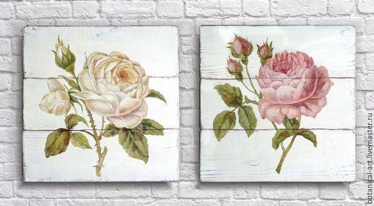 """Картины цветов ручной работы. Ярмарка Мастеров - ручная работа. Купить """"Белая роза"""". Handmade. Винтажный стиль, прованс"""