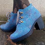 Обувь ручной работы. Ярмарка Мастеров - ручная работа Ботиночки Синева-Нева-Нева. Handmade.