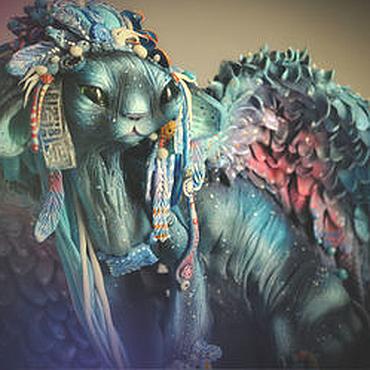 Для дома и интерьера ручной работы. Ярмарка Мастеров - ручная работа Ихгди-сай, персонаж инопланетной кошачьей расы. Handmade.