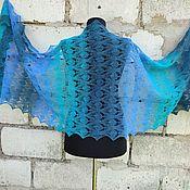 Аксессуары handmade. Livemaster - original item Stole Openwork Lace Scarf made of 100% Wool. Handmade.