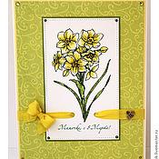 Открытки ручной работы. Ярмарка Мастеров - ручная работа Открытка на 8 Марта для мамы. Handmade.