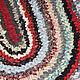 Текстиль, ковры ручной работы. Овальный бабушкин коврик. Анна (nanitochkah). Ярмарка Мастеров. Вязаный коврик, дачный интерьер, хлопок