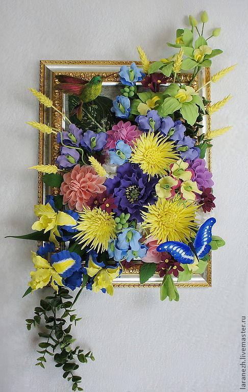 Картины цветов ручной работы. Ярмарка Мастеров - ручная работа. Купить Райский сад. Handmade. Картина в подарок, картина с цветами