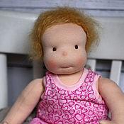 Куклы и игрушки ручной работы. Ярмарка Мастеров - ручная работа Мама, я проснулась! Кукла вальдорфская ручной работы для девочки. Handmade.