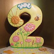 """Сувениры и подарки ручной работы. Ярмарка Мастеров - ручная работа Имбирный пряник на день рождения """"2 Года"""". Handmade."""