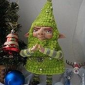 Куклы и игрушки ручной работы. Ярмарка Мастеров - ручная работа Гномик-ёлочка. Handmade.