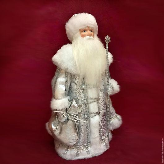 Коллекционные куклы ручной работы. Ярмарка Мастеров - ручная работа. Купить 20. Дед мороз серебяный, фарфор, 35см. Handmade.