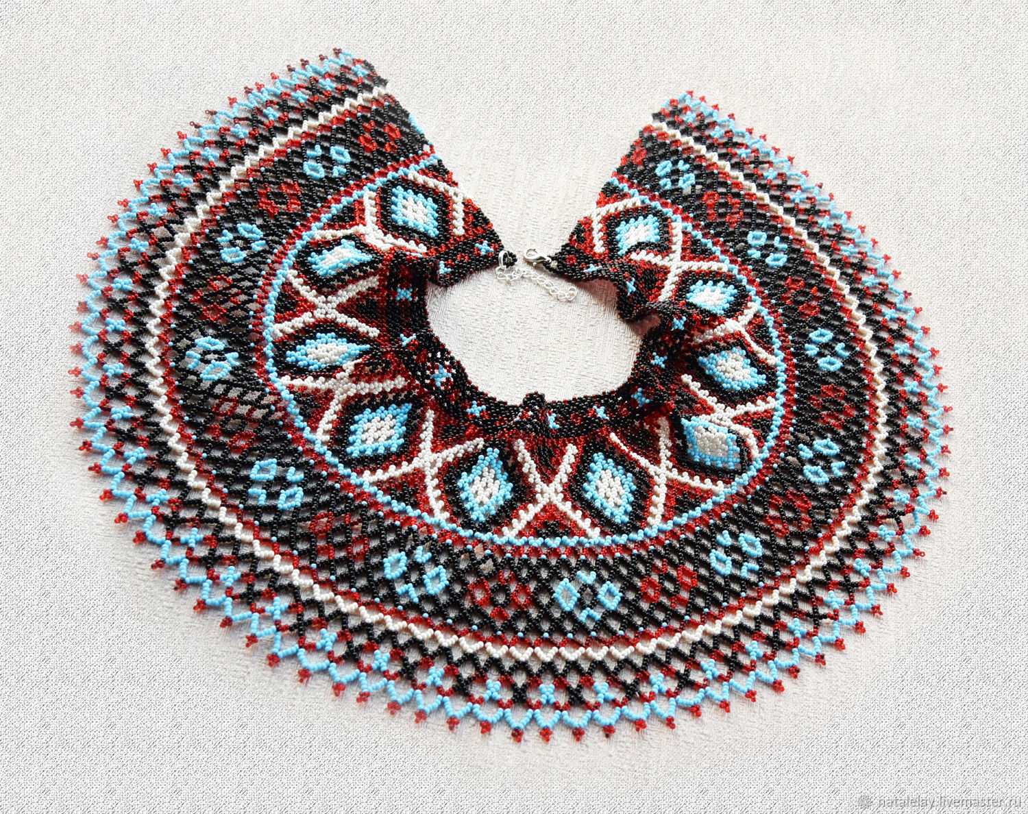 Collar shoulder strap made of beads in ethno style, Necklace, St. Petersburg,  Фото №1