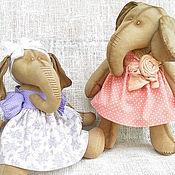 Куклы и игрушки ручной работы. Ярмарка Мастеров - ручная работа Интерьерные слоны Маша и Даша. Handmade.