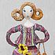 """Коллекционные куклы ручной работы. Ярмарка Мастеров - ручная работа. Купить Интерьерная кукла """"Дама с баранками"""", каркасная кукла, статуэтка. Handmade."""