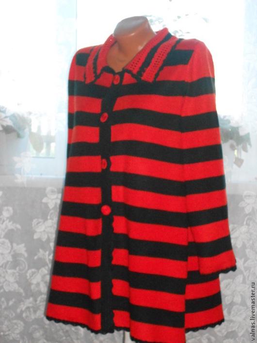 """Верхняя одежда ручной работы. Ярмарка Мастеров - ручная работа. Купить Пальто """"Этюд в полоску""""/Авторская работа.. Handmade. В полоску"""