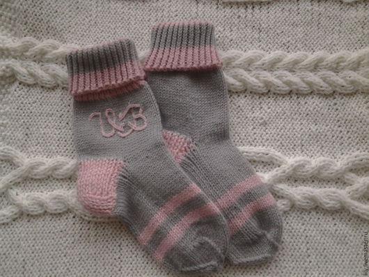Носки, Чулки ручной работы. Ярмарка Мастеров - ручная работа. Купить носочки именные. Handmade. Комбинированный, новогодний подарок