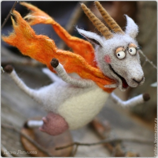"""Игрушки животные, ручной работы. Ярмарка Мастеров - ручная работа. Купить Коза """"Летящей походкой, я вышла из дома...!"""". Handmade."""
