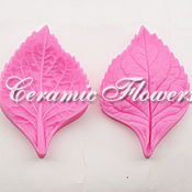 Материалы для творчества handmade. Livemaster - original item Silicone mold (Weiner) leaf hydrangea,double-sided,medium. Handmade.