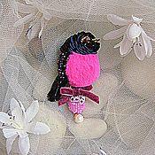 """Украшения ручной работы. Ярмарка Мастеров - ручная работа Брошь """"Розовая птаха""""(продана). Handmade."""