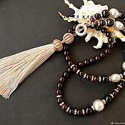 Украшения handmade. Livemaster - original item Sotuar with garnets and pearls Mallorca. Handmade.