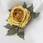 """Украшения ручной работы. Ярмарка Мастеров - ручная работа Роза-брошь """"Golden"""". Handmade."""