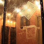 Дизайн и реклама handmade. Livemaster - original item Decor door wardrobe antique ornamental mirrors ethno. Handmade.