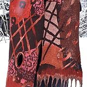 """Аксессуары ручной работы. Ярмарка Мастеров - ручная работа нуновойлочный шарф""""История с геометрией 3"""". Handmade."""