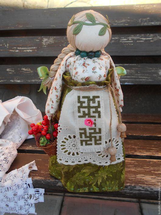 """Народные куклы ручной работы. Ярмарка Мастеров - ручная работа. Купить Кукла на здоровье """"Внучка знахарки"""". Handmade. Зеленый"""