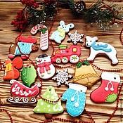 Сувениры и подарки ручной работы. Ярмарка Мастеров - ручная работа Яркие елочные игрушки ! Набор имбирного печенья. Handmade.
