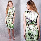 Одежда handmade. Livemaster - original item Silk dress mint color