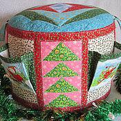 Для дома и интерьера ручной работы. Ярмарка Мастеров - ручная работа Пуфик в детскую Новогодний. Handmade.