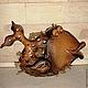 Животные ручной работы. Ярмарка Мастеров - ручная работа. Купить Панно Золотая Рыбка керамика. Handmade. Коричневый, дача