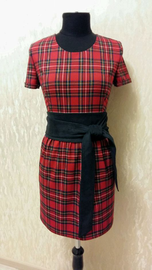 Платья ручной работы. Ярмарка Мастеров - ручная работа. Купить Платье Шотландка с отрезной юбкой. Handmade. Платье, платье на осень