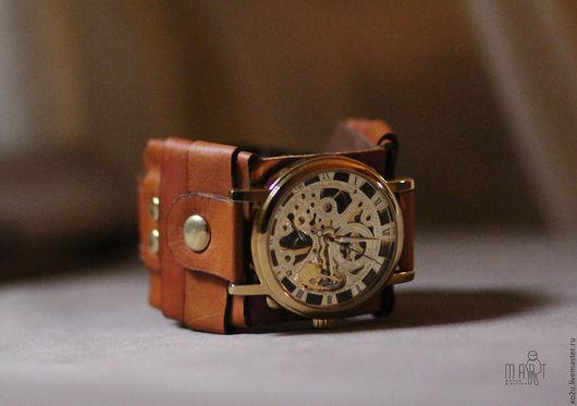 """Часы ручной работы. Ярмарка Мастеров - ручная работа. Купить Часы наручные """"Коралл""""  (кофе). Handmade. Часы наручные"""