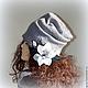 Шапки ручной работы. Ярмарка Мастеров - ручная работа. Купить Шапка- чулок нунофелт Лондонский Сонет. Handmade. Серый, шапка