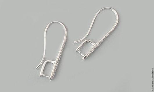 Для украшений ручной работы. Ярмарка Мастеров - ручная работа. Купить Швензы крючки серебро 925 пробы с держателем для камня. Handmade.