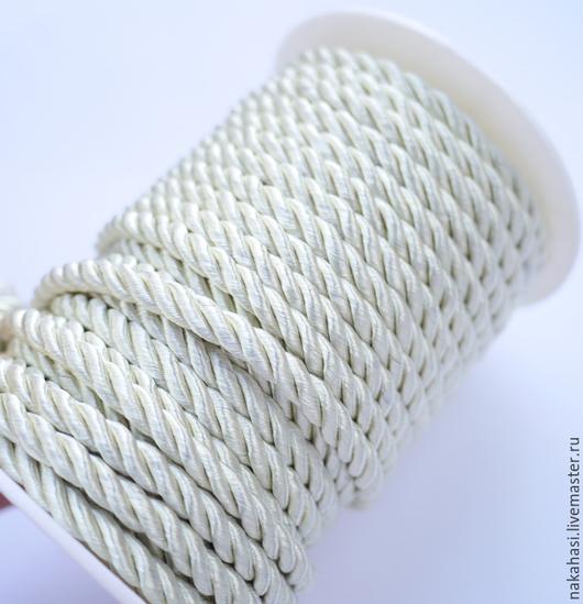 Другие виды рукоделия ручной работы. Ярмарка Мастеров - ручная работа. Купить Шнур витой, бежевый, 10м х 6мм, арт.2310236. Handmade.